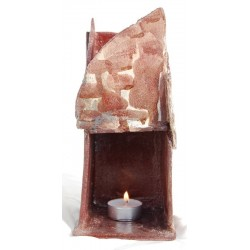 Brucia Essenze Ceramica Raku Colorato beige rosso vino