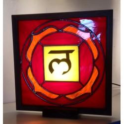 Lampada dei Chakra in vetro