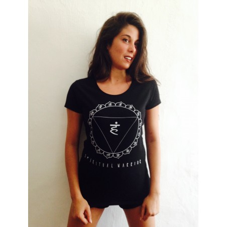 T-Shirt Donna Spiritual Warrior - 5° Chakra Vishudda