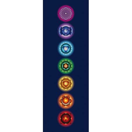 Poster dei 7 Chakra con sfondo scuro