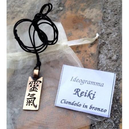 Ciondolo Ideogramma Reiki Shodo Antico Ottone