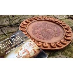 Set da Divinazione Piatto Oracolo e libro Runemal