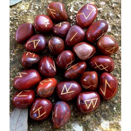 Set Rune Diaspro rosso