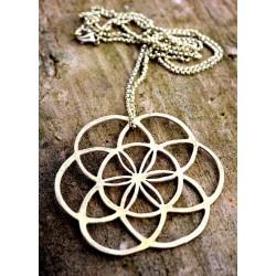 Ciondolo Seme della Vita Geometria Sacra in Ottone