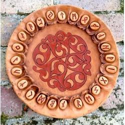 Piatto Oracolo delle Rune in Terracotta celtico 2 - DISPONIBILE diametro 42 cm