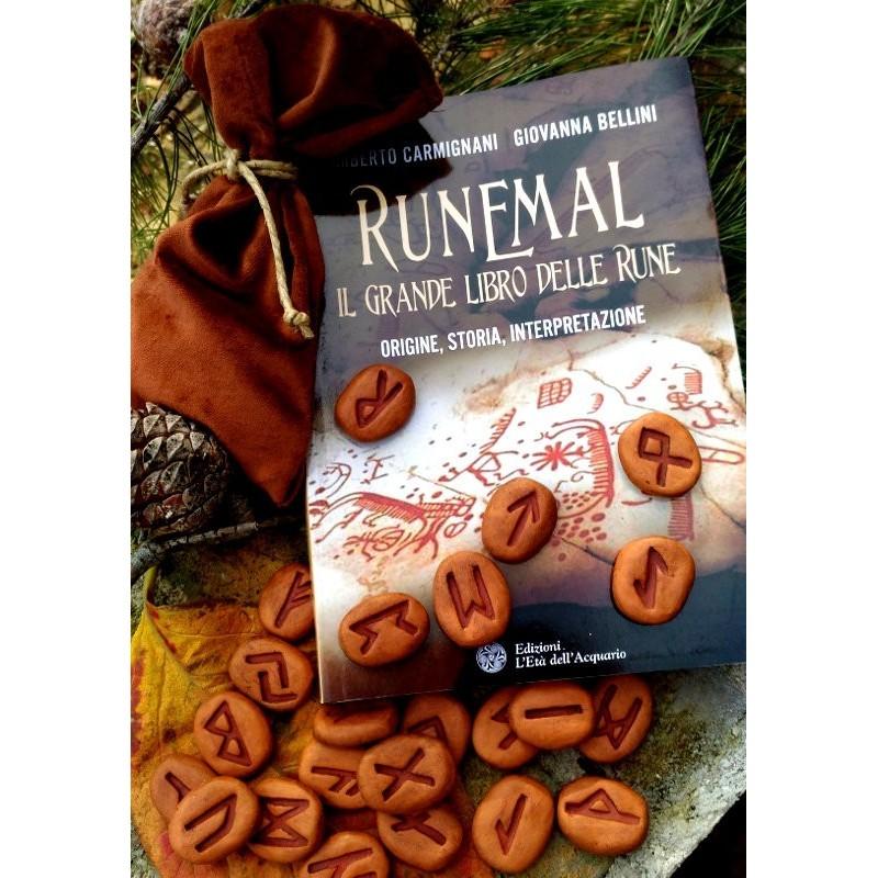 Set Libro Runemal e Rune in Terracotta