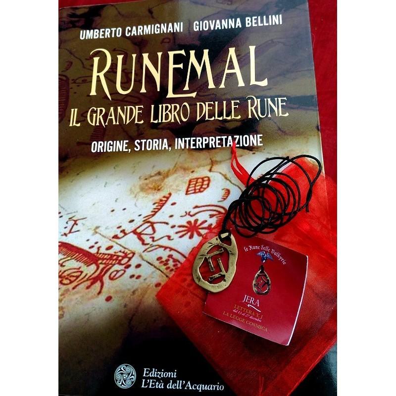 Libro Runemal e Ciondolo Runa in bronzo
