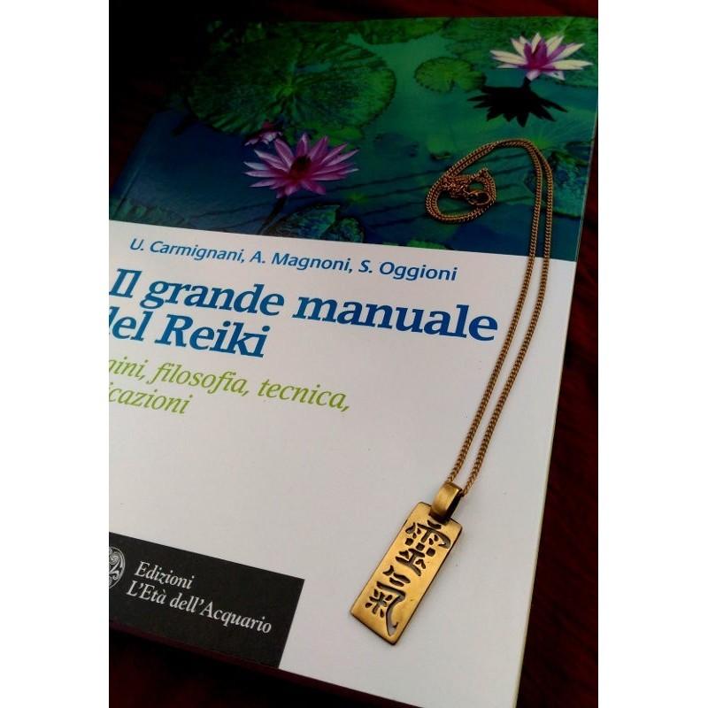 Grande Manuale del Reiki + Ciondolo Ideogramma Reiki Shodo in bronzo