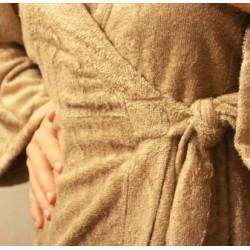 Afrodite - accappatoio lungo colore nocciola caldo