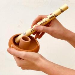 Ciotololina in ceramica al tornio per moxibustione